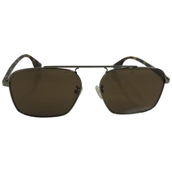 Pre-owned Alexander Mcqueen Silver Metal Sunglasses