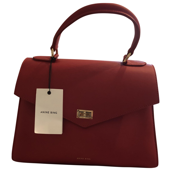 Pre-owned Anine Bing Red Leather Handbag