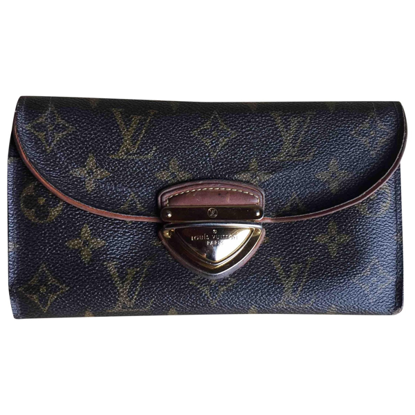 Pre-owned Louis Vuitton Eugénie Brown Cloth Wallet