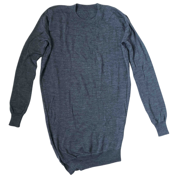 Pre-owned Alexander Wang Anthracite Wool Knitwear