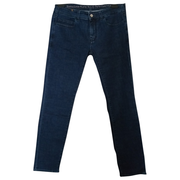Pre-owned Notify Blue Cotton - Elasthane Jeans