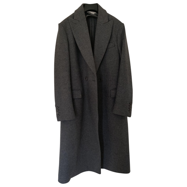 Pre-owned Stella Mccartney Grey Wool Coat