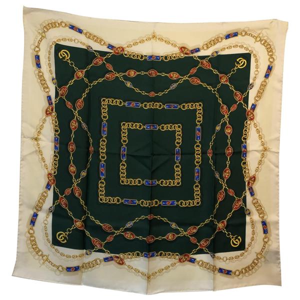 Pre-owned Gucci Multicolour Silk Silk Handkerchief