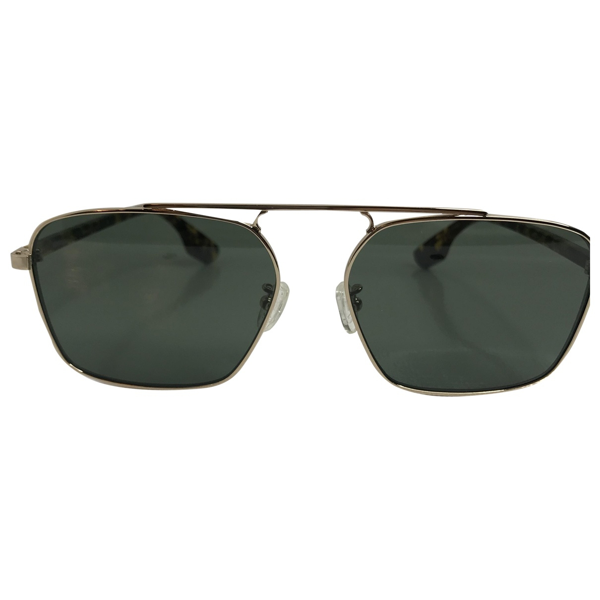 Pre-owned Mcq By Alexander Mcqueen Gold Metal Sunglasses