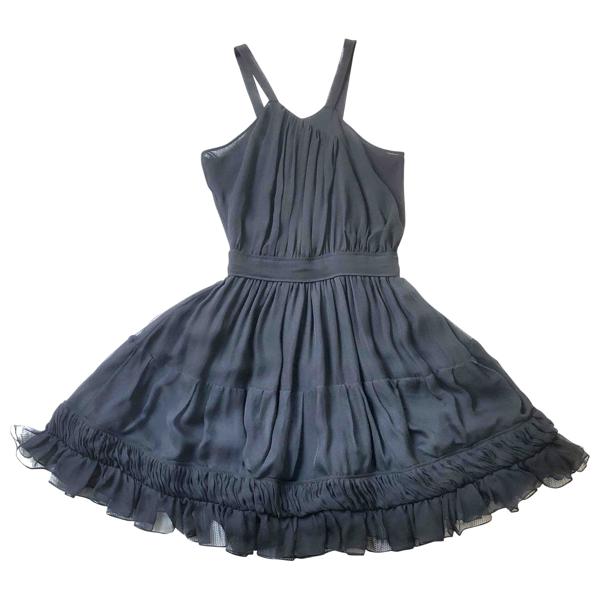 Pre-owned Roberto Cavalli Black Silk Dress