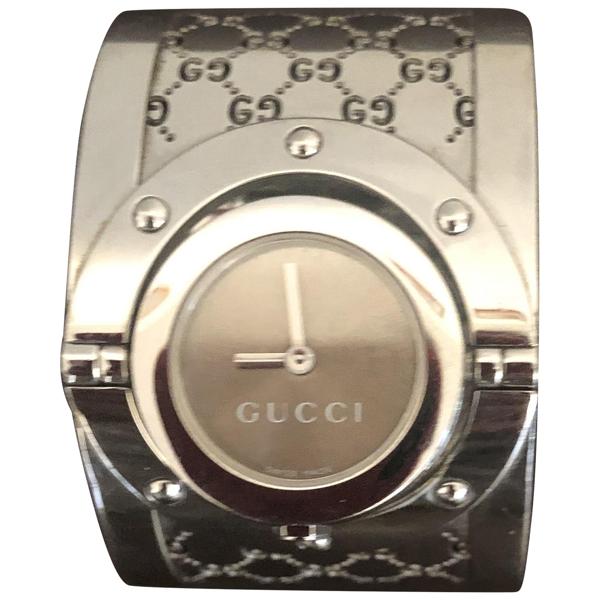 Pre-owned Gucci Twirl Silver Steel Watch