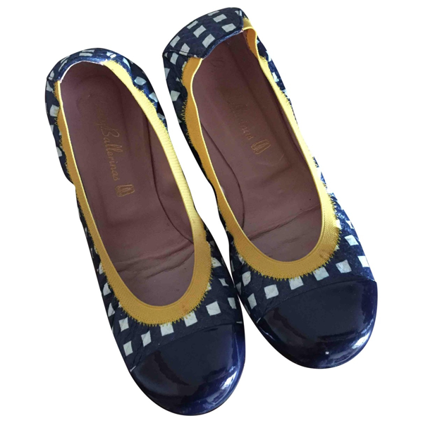Pre-owned Pretty Ballerinas Blue Leather Ballet Flats