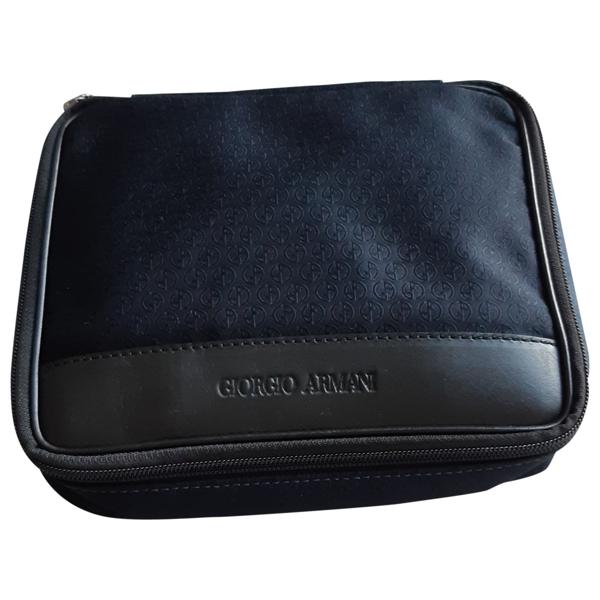 Pre-owned Giorgio Armani Navy Cloth Bag