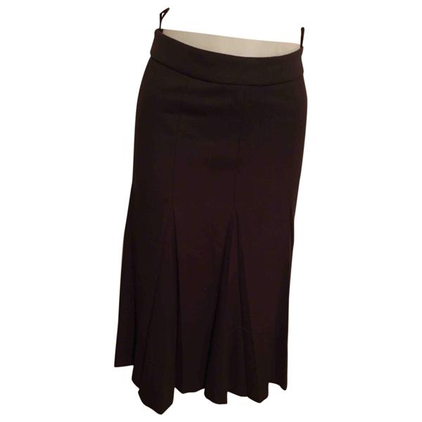 Pre-owned Prada Brown Wool Skirt