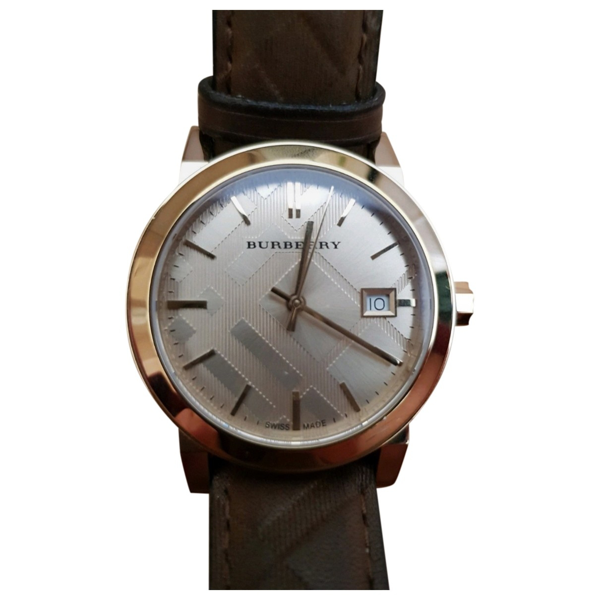 Pre-owned Burberry Brown Steel Watch