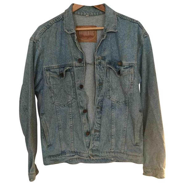 Pre-owned Wrangler Blue Denim - Jeans Jacket