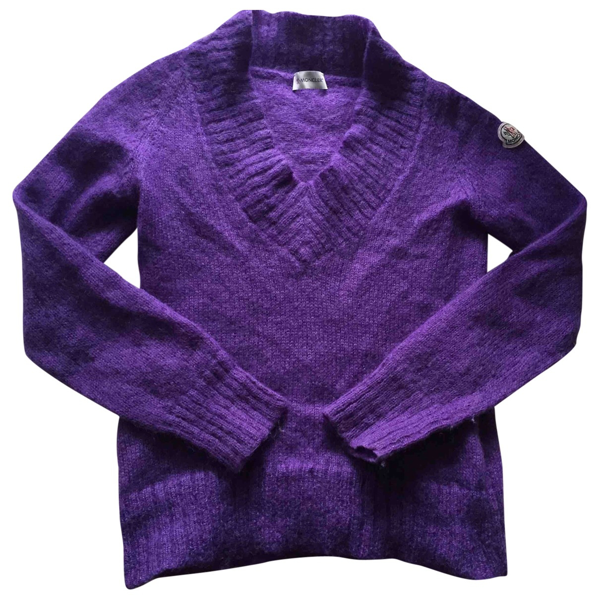 Pre-owned Moncler Purple Wool Knitwear