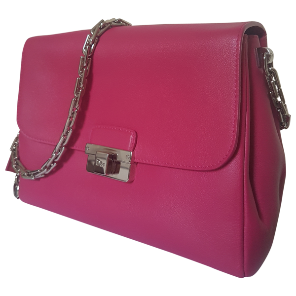 Pre-owned Dior Ling Pink Leather Handbag