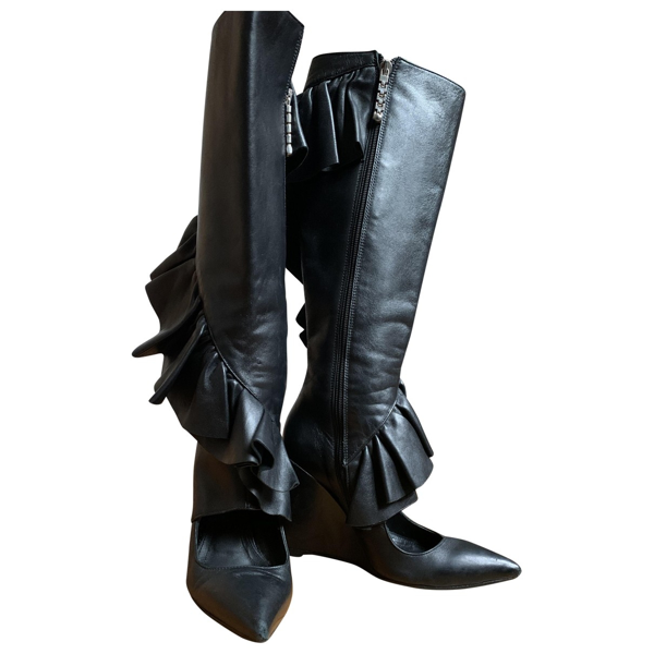 Pre-owned Jw Anderson Black Leather Boots