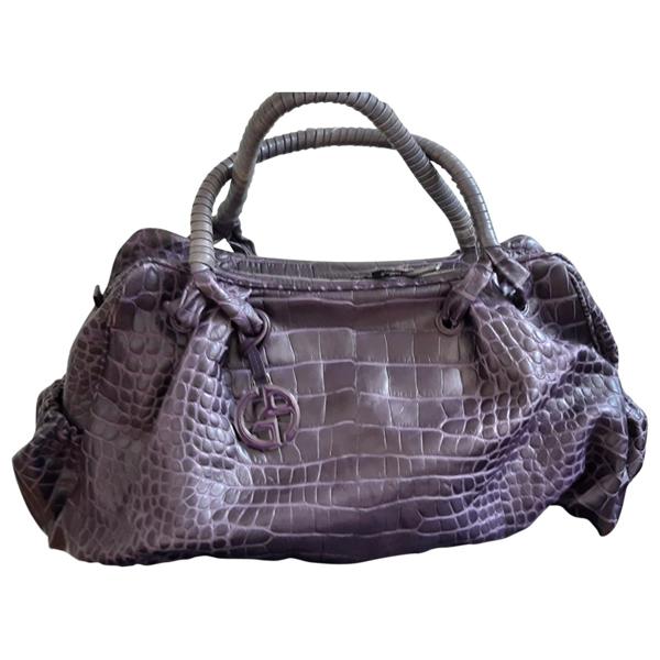 Pre-owned Giorgio Armani Purple Leather Handbag