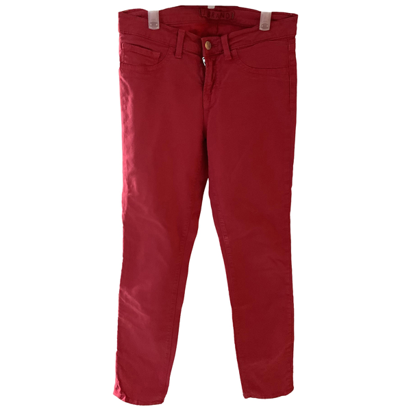 Pre-owned J Brand Red Cotton - Elasthane Jeans