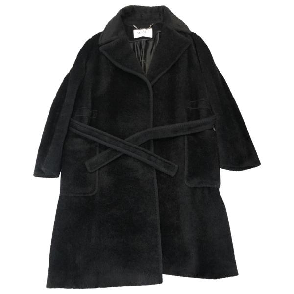 Pre-owned Max Mara Black Wool Coat