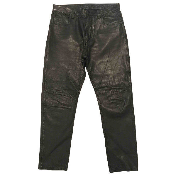 Pre-owned Isabel Marant Étoile Black Leather Trousers