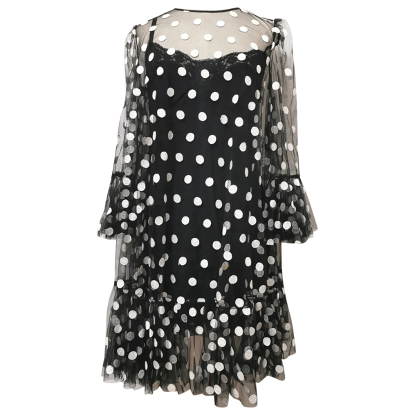 Pre-owned Dolce & Gabbana Black Silk Dress