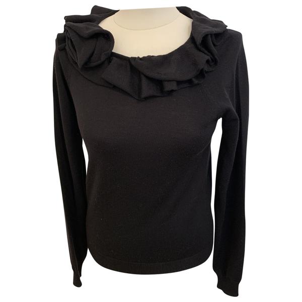 Pre-owned Prada Black Wool Knitwear