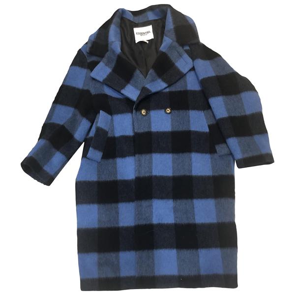 Pre-owned Essentiel Antwerp Blue Wool Coat