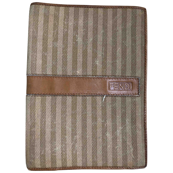 Pre-owned Fendi Beige Cloth Wallet