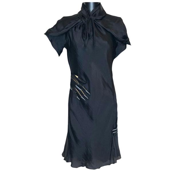 Pre-owned Rochas Navy Silk Dress
