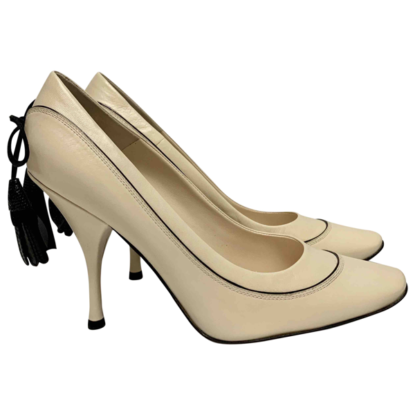 Pre-owned Louis Vuitton Beige Leather Heels