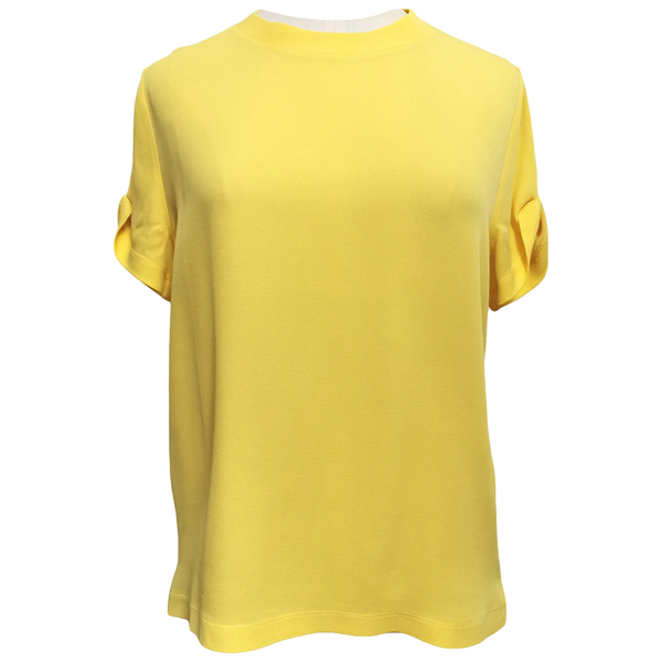 Pre-owned Valentino Yellow Silk  Top