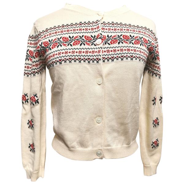 Pre-owned Miu Miu Ecru Cotton Knitwear