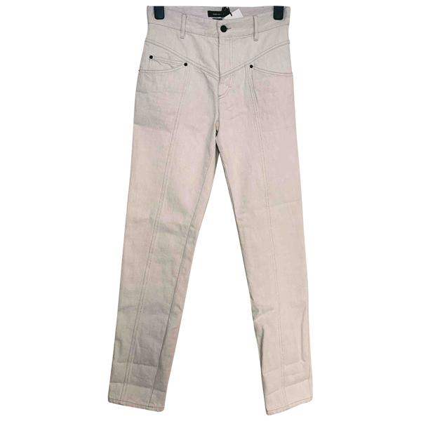 Pre-owned Isabel Marant White Denim - Jeans Jeans