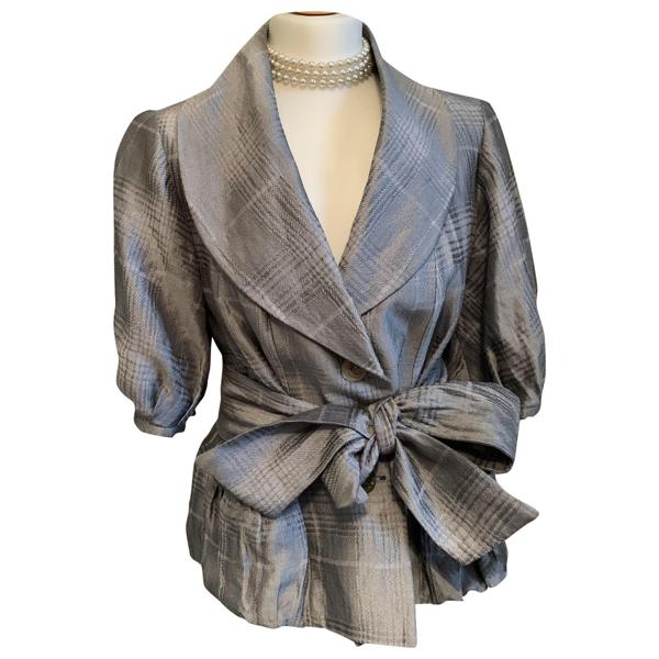 Pre-owned Armani Collezioni Grey Jacket