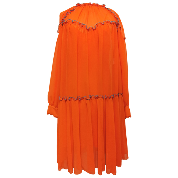 Pre-owned Msgm Orange Dress