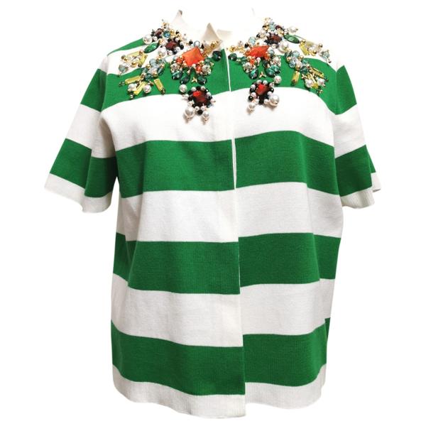 Pre-owned Stella Jean Green Cotton Knitwear