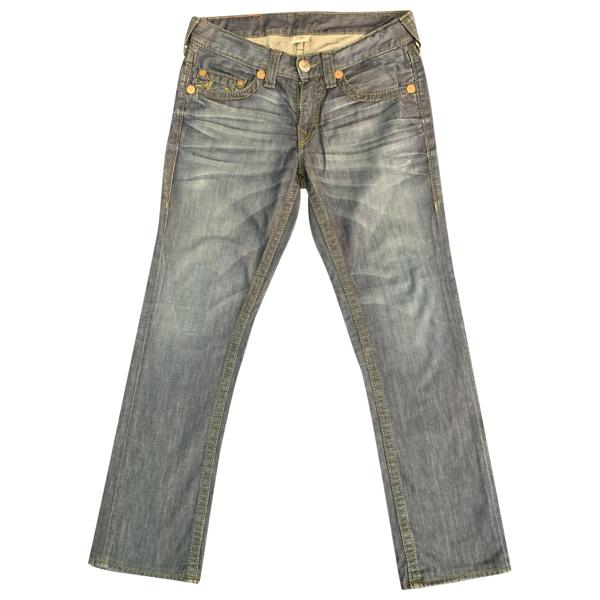 Pre-owned True Religion Blue Cotton Jeans