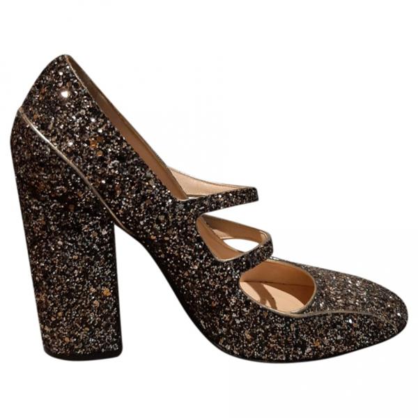 Pre-owned N°21 Gold Glitter Heels