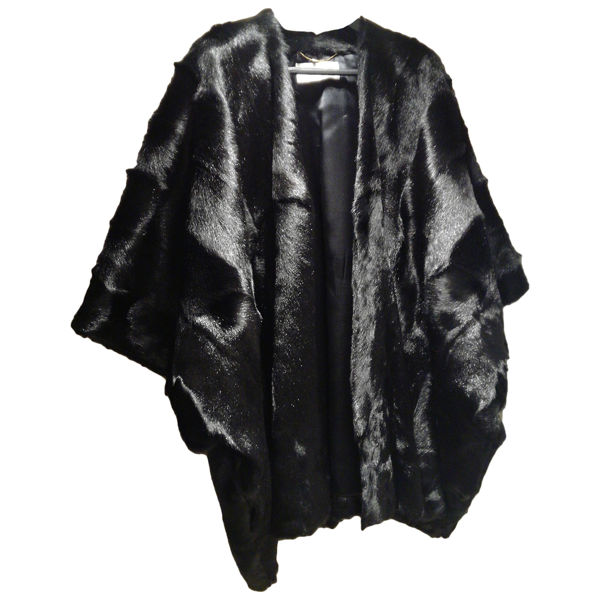 Pre-owned Saint Laurent Black Fur Coat