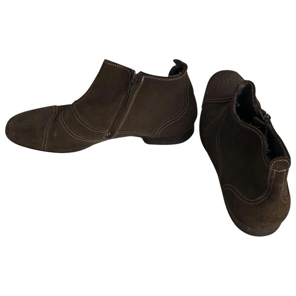 Pre-owned Bottega Veneta Brown Suede Boots