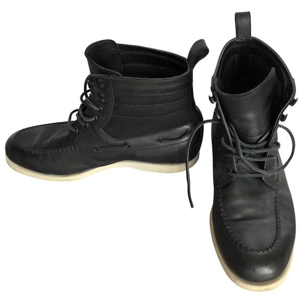 Pre-owned Bottega Veneta Black Leather Boots