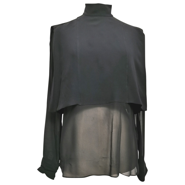Pre-owned Valentino Black Silk  Top