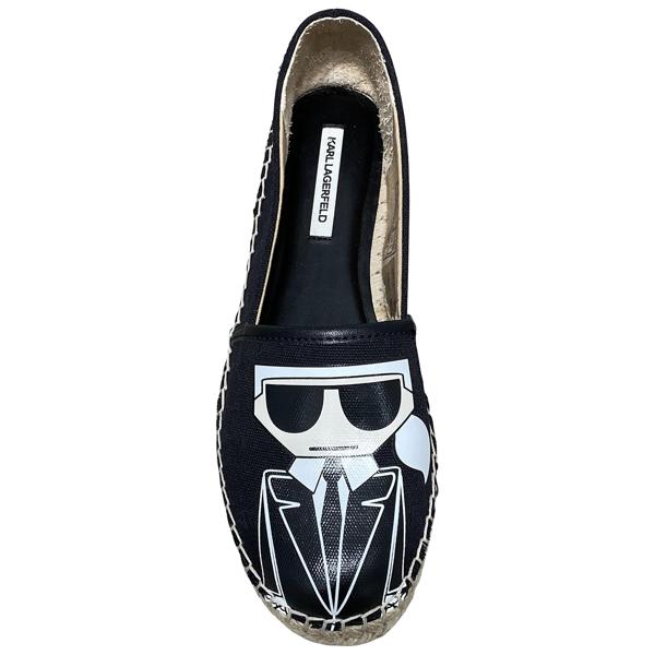 Pre-owned Karl Lagerfeld Black Cloth Espadrilles
