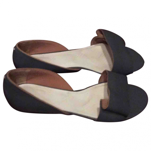 Pre-owned Mm6 Maison Margiela Grey Leather Sandals