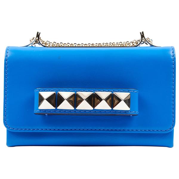 Pre-owned Valentino Garavani Vavavoom Blue Leather Handbag