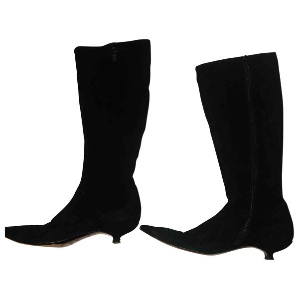 Pre-owned Miu Miu Black Suede Boots