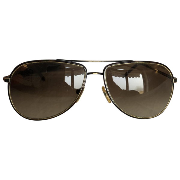 Pre-owned Bottega Veneta Brown Metal Sunglasses