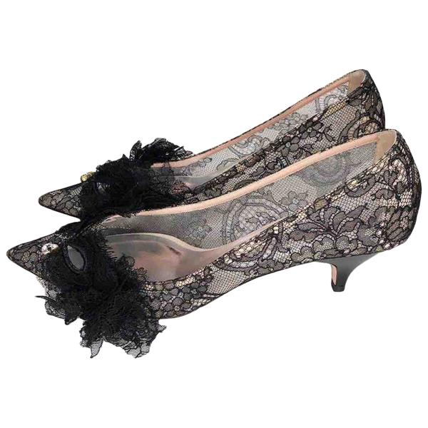 Pre-owned Rochas Grey Cloth Heels