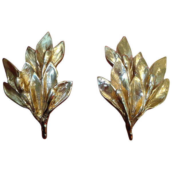 Pre-owned Saint Laurent Gold Metal Earrings