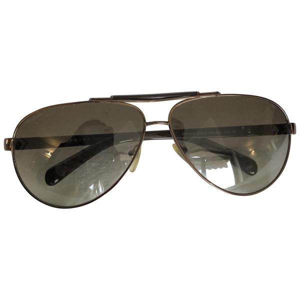 Pre-owned Prada Brown Metal Sunglasses