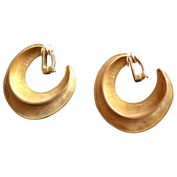 Pre-owned Saint Laurent Gold Metal Earrings