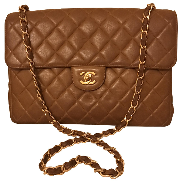 Pre-owned Chanel Timeless/classique Camel Leather Handbag
